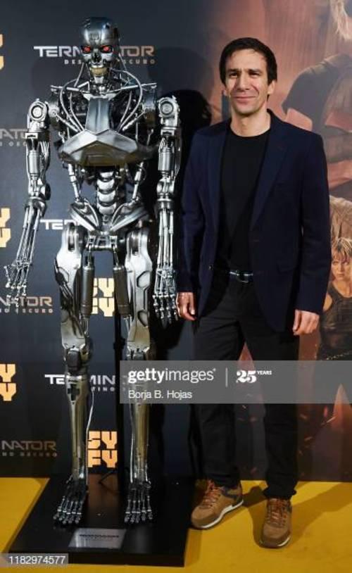 Daniel Ortiz en el estreno de Terminator Dark Fate en octubre de 2019