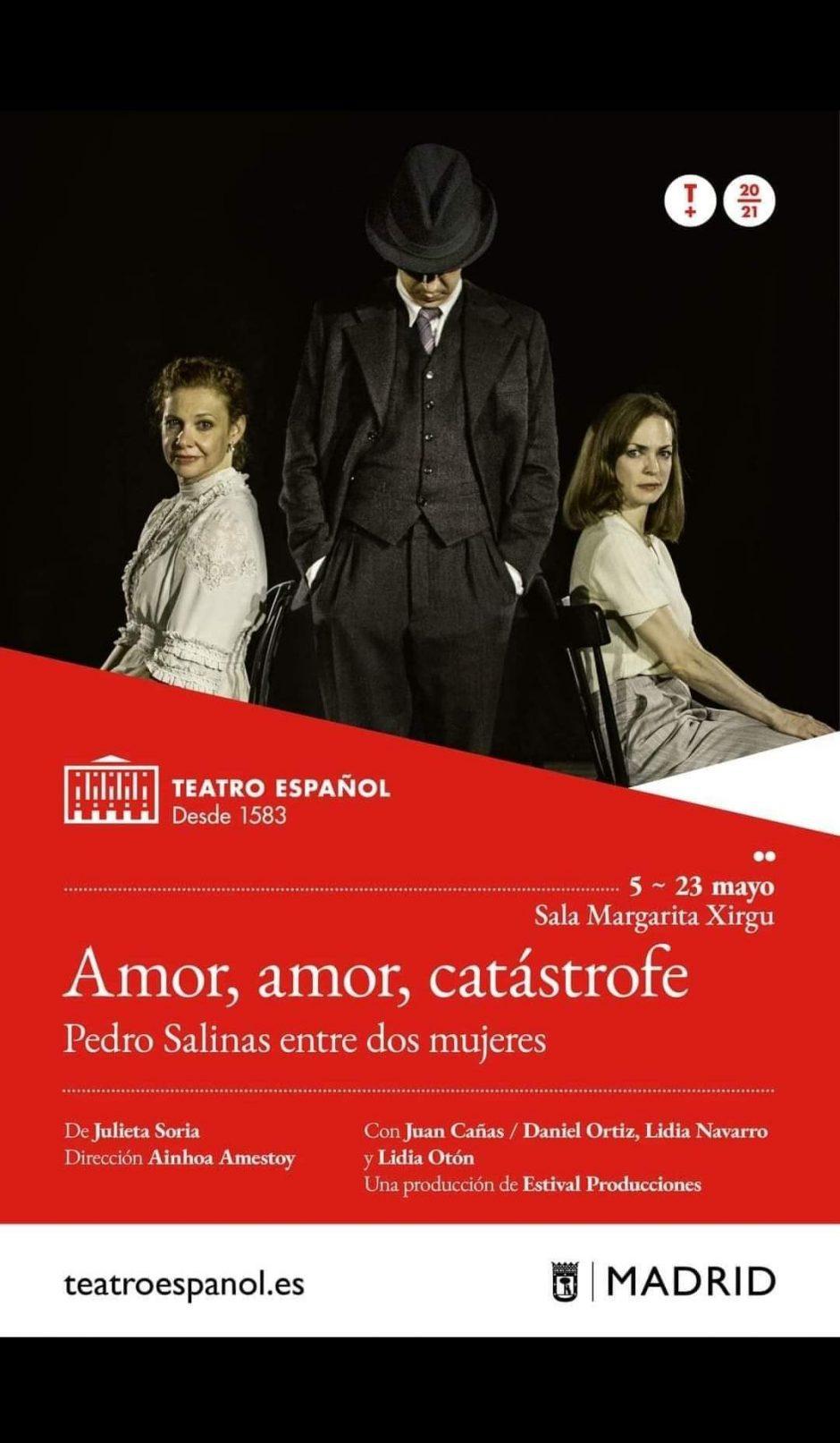 """Daniel Ortiz interpreta a Pedro Salinas en """"Amor, amor, catástrofe"""" en el Teatro Español de Madrid"""
